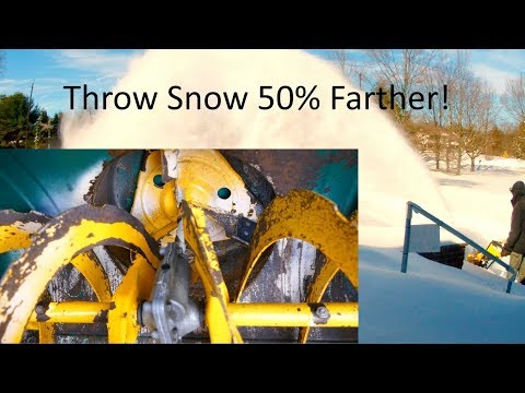Snowblower Mod: Throw Snow Up To 50% Farther!