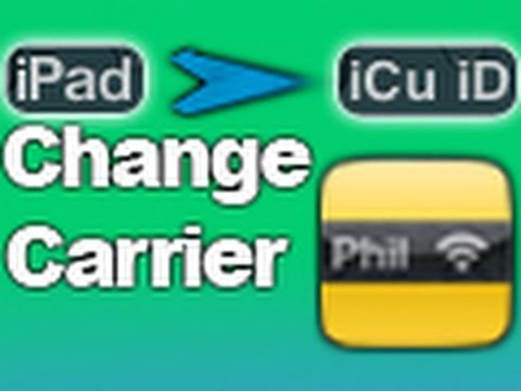 Change Your iPad Or iPod Touch's Carrier Name On iOS 4.2.1