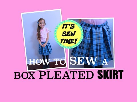 HOWTO SEW A PLAID BOX PLEATED SKIRT | NO SEWING PATTERN NEEDED!