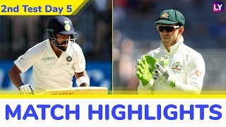 IND vs AUS 2nd Test 2018 Day 5 Highlights: Hosts Win by 146 Runs, Level Series 1-1