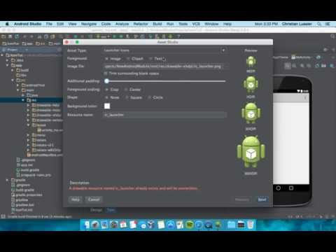 Adding App Icon in Android Studio