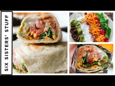 7 Layer Dip Bean Burritos || Easy Lunch AND Dinner Idea