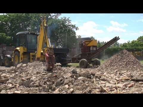 diy homemade tractor pto concrete stone crusher from scrap part 1