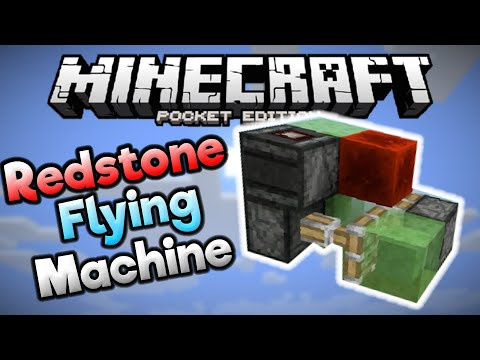REDSTONE FLYING MACHINE in MCPE! - Simple MCPE 0.15.0 Redstone Build - Minecraft PE (Pocket Edition)