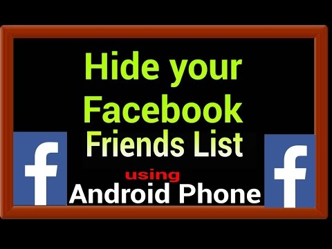 Hide your Facebook Friends list using Android Phone 2016|| Via Opera mini and UC browser apps