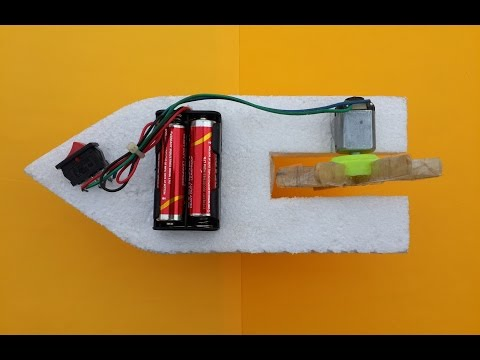How to Make a Simple Toy Boat with DC Motor at Home