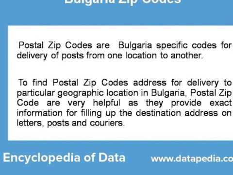 About Bulgaria Postal Zip Code Finder