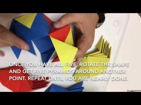Assembling a sonobe unit icosahedron