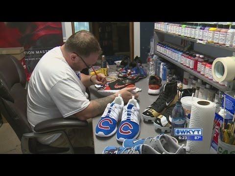 Local shoe artist creates custom sneakers for athletes