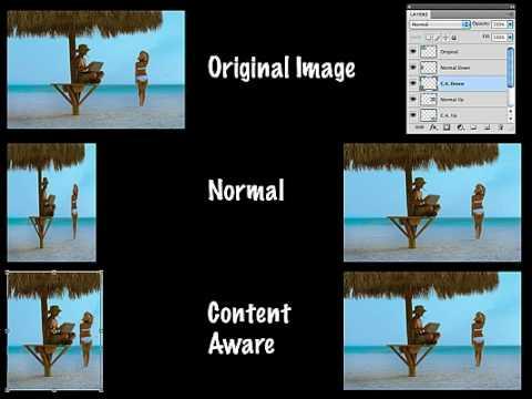 Photoshop CS4 Content Aware scaling