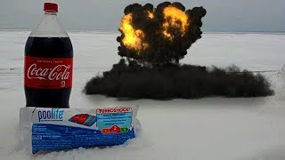 Mixing Coca Cola and Pool Chlorine On a Frozen Lake