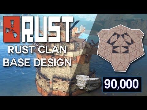 MASSIVE HARD TO RAID CLAN BASE DESIGN - Rust Base Building (90,000 Stone) Very Hard to Raid