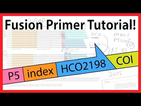 Developing fusion primers for DNA metabarcoding - sample indexing / tagging (Illumina)