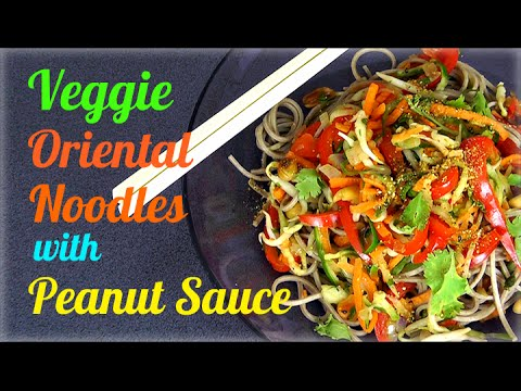Veggie Soba Noodles with Peanut Sauce (Healthy Recipe)