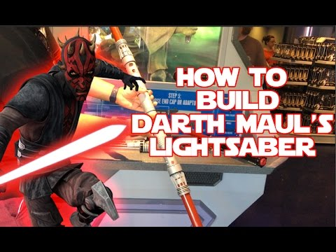 Star Wars | Build your own Darth Maul Lightsaber toy at Disneyland Force Friday 2