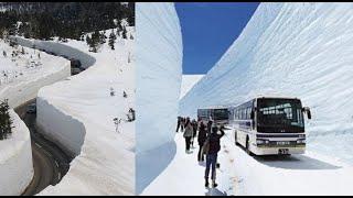 Los Videos mas Raros del Mundo 172 / Carretera con 20 metros de Nieve