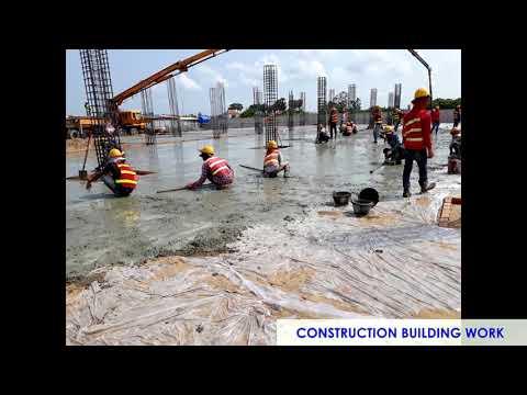 HIGH BUILDING CONSTRUCTION WORK PROGRESS