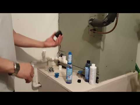 How to fix unclog  clean your ac condensate drain line .Kit available on Amazon keyword