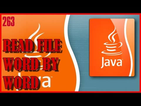 JAVA Read text file word by word