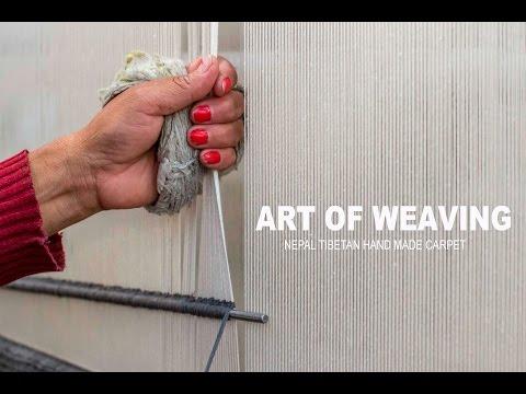 Art of Weaving Nepal Tibetan Handmade Carpet