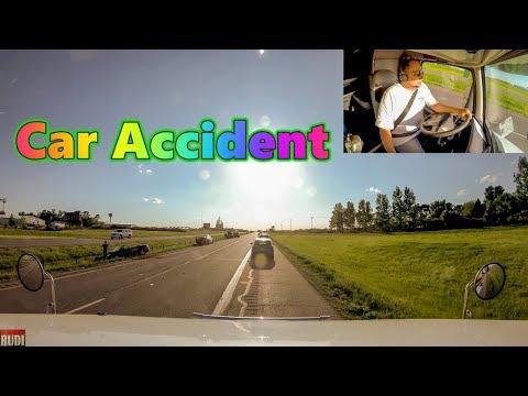 Car Accident Trucker Rudi 06/03/18 Vlog#1444