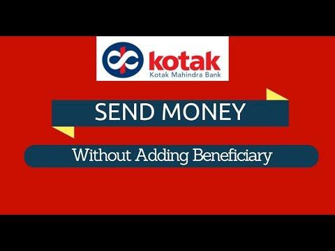 KOTAK BANK - Send Money Without Adding Beneficiary