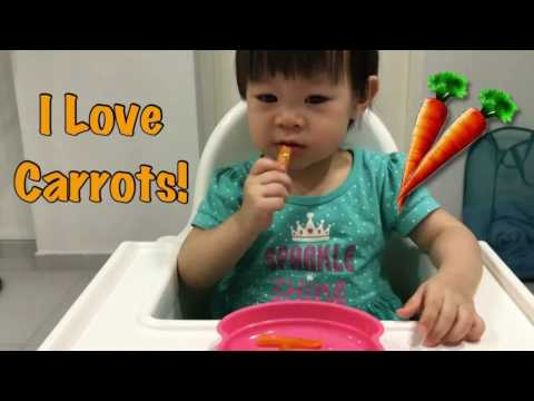 GOOD BABY EATING CARROTS | BABY Eating Vegetables Copykids