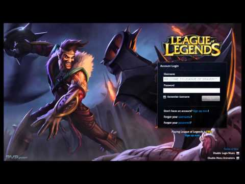 League of Legends Draven Login Screen + Music