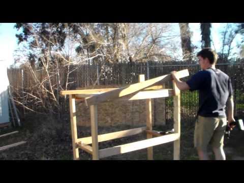 Framing our  backyard chicken coop