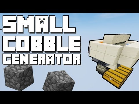Minecraft: Small Cobblestone Generator [With Optional Filter]