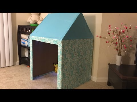 How to build a cardboard playhouse for kids Time-lapse video