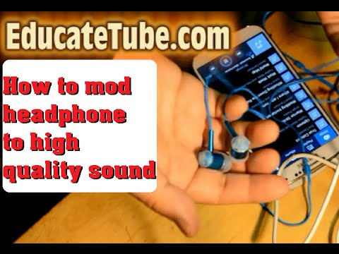 How to mod cheap headphone to high quality headphone for free