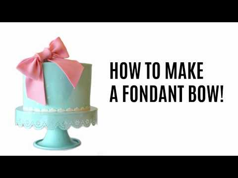 How to make a fondant bow!