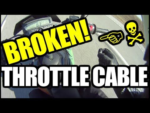 How to Ride a Motorcycle with a Broken Throttle Cable +LIKE A GIRL +OH SNAP!