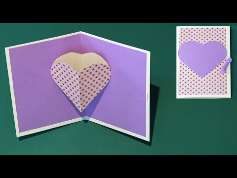 DIY Heart Pop Up Card EASY