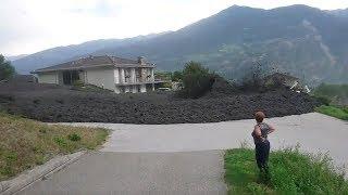 Mudslide barrels through Swiss town