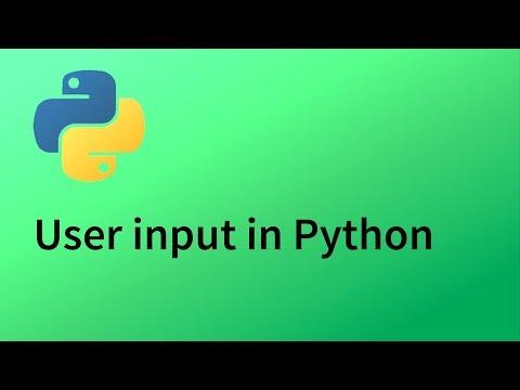 Python Tutorial 4 - User input