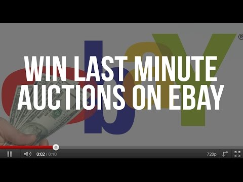 How To Win Last Minute Auctions On eBay