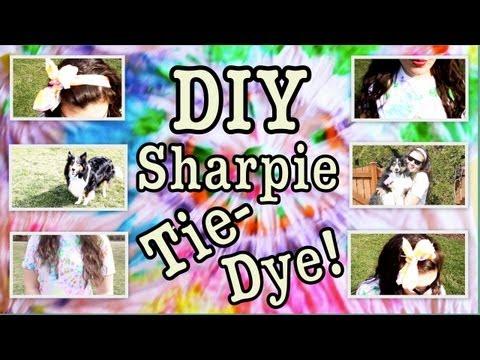 DIY: SHARPIE TIE-DYE! A fun and easy way to Tie-Dye!