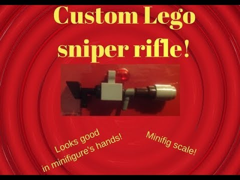 How to build a Lego sniper rifle - Lego tutorial