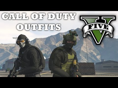GTA V - Call of Duty Inspired Outfits! New Custom Doomsday Heist Outfits (Ghost & Shadow Company)