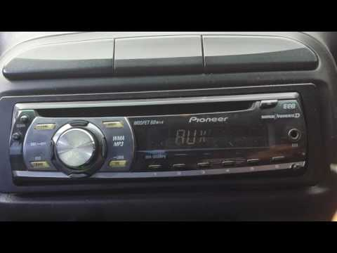 Set the clock  in pioneer mosfet 50wx4 in 50 second