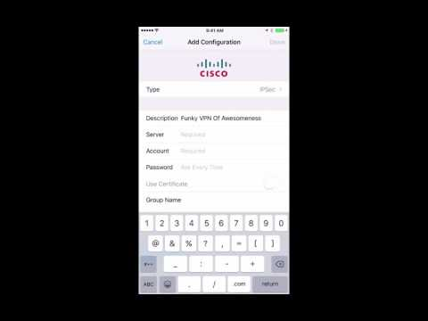 iPhone IPSEC VPN Setup