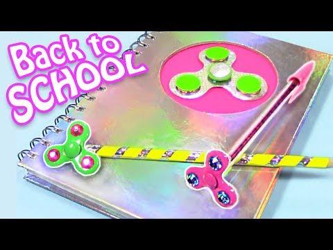 SPINNER SCHOOL SUPPLIES! DIY BACK TO SCHOOL