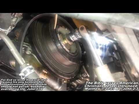 Harmonic Balancer Crankshaft Pulley Remove Replace 91-97 Lexus GS300
