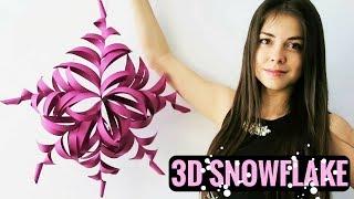 3D PAPER SNOWFLAKES TUTORIAL - MAKING PAPER SNOWFLAKES DIY