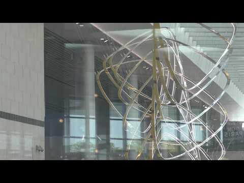 Petalclouds Kinetic Art at Terminal 4 , Changi Airport, Singapore