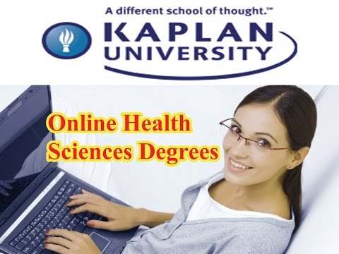 Online Health Sciences Degree Kaplan University Online Courses