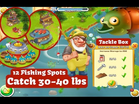 Hay Day - Fishing for 30 to 40 lbs for the Derby.