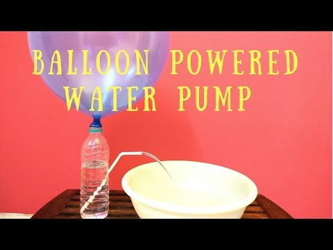 How to Make Water Pump with Balloon- Easy Air Pressure Science Experiment/ Project for Kids
